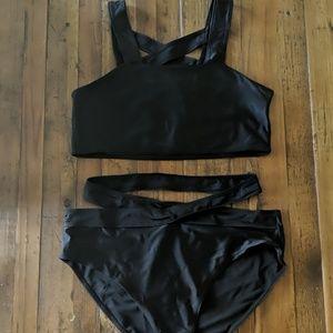 SHEIN Swim - Criss-cross bikini with cutouts